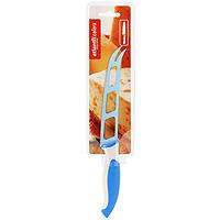 Нож для сыра Atlantis, цвет: синий, длина лезвия 13 см. L-5Z-BL-5Z-BНож для сыра Atlantis превосходно подходит для нарезки твердых и мягких сыров, также на конце лезвия имеется вилка - для сервировки сыра.Особенности ножа Atlantis: японская высокоуглеродистая нержавеющая стальпрочный и острый клинокэргономический дизайн ручкибезопасное и прочное покрытие лезвия, не дающее пище прилипать к ножукрасивое сочетание цветов ручки и лезвия. Характеристики: Материал: нержавеющая сталь, пластик. Длина лезвия: 13 см. Общая длина: 25 см. Производитель: Китай. Артикул: L-5Z-B.