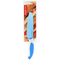 """Нож универсальный """"Atlantis"""" высшего качества предназначен для профессионального и домашнего использования, а также для универсального использования при обработке продуктов.  Очень удобная и эргономичная ручка не позволит выскользнуть ножу из вашей руки.Нож обработан специальным покрытием """"Microban"""". Покрытие """"Microban"""" - самое надежное в мире средство для защиты от бактерий, грибков, плесени и запахов. Действует постоянно, даже после мытья, обеспечивая большую защиту ножа. Антибактериальная защита работает на протяжении всего срока службы ножа.  Особенности ножа """"Atlantis"""":   японская высокоуглеродистая нержавеющая сталь  прочный и острый клинок  безопасное и прочное покрытие лезвия, не дающее пище прилипать к ножу  красивое сочетание цветов ручки и лезвия  затупленный кончик лезвия для большей безопасности. Характеристики:  Материал: нержавеющая сталь, пластик. Длина лезвия: 15 см. Длина общая: 28 см. Производитель: Китай. Артикул: L-6D-B."""