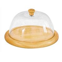 """Сырница """"Oriental way"""" выполнена из высококачественной древесины гевеи и пластика. Имеет форму круглого подноса с прозрачной крышкой. Сырницу можно использовать в холодильнике, мыть в теплой воде.  Благодаря такой сырнице ваш сыр всегда будет свежим.    Особенности сырницы """"Oriental way"""":    высокое качество шлифовки поверхности изделия   двухслойное покрытие пищевым лаком, безопасным для здоровья человека   степень влажность 8-10%, не трескается и не рассыхается   высокая плотность структуры древесины   устойчива к механическим воздействиям.   Характеристики: Материал: пластик, дерево. Диаметр: 20 см. Высота (с крышкой): 12,5 см. Размер упаковки: 20,5 см х 21 см х 10 см. Производитель: Китай. Артикул:C7008."""