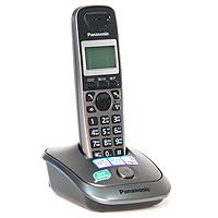 Panasonic KX-TG2511 RUM, Metallic GreyKX-TG2511RUMБеспроводной телефон Panasonic KX-TG2511 стандарта DECT.
