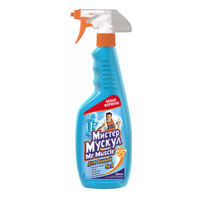 """Средство для ванной """"Mr Muscle"""" эффективно очищает все поверхности в ванной. Решает пять основных задач: удаляет налет, ржавчину, грязь и микробы, не оставляя разводов. Без усилий очищает керамические, пластиковые, хромированные, нержавеющие и стеклянные поверхности. Обладает антимикробным действием. Характеристики: Объем: 500 мл. Изготовитель:  Украина.Товар сертифицирован."""