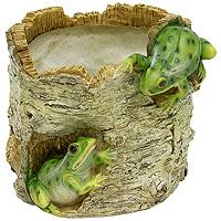 Декоративное кашпо Лягушки на березеHP091225Кашпо для цветов представляет собой декоративную вазу, выполненную в виде двух лягушек на стволе березы. Ваза предназначена для установки внутрь цветочных горшков с растениями. Кашпо часто становятся последним штрихом, который совершенно изменяет интерьер помещения или ландшафтный дизайн сада. Благодаря такому кашпо вы сможете украсить вашу комнату, офис, сад и другие места. Характеристики:Материал: полистоун. Диаметр отверстия для горшка: 11,5 см. Высота кашпо: 12,5 см. Размер коробки: 16 см х 13,5 см х 14 см. Артикул:НР091225. Производитель:Китай.