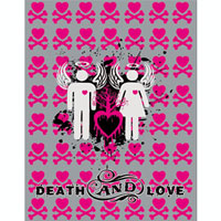 Пакет подарочный Death And Love, 18 х 23 х 10 см. 19249 пакет подарочный феникс презент чашки 18 х 10 х 23 см