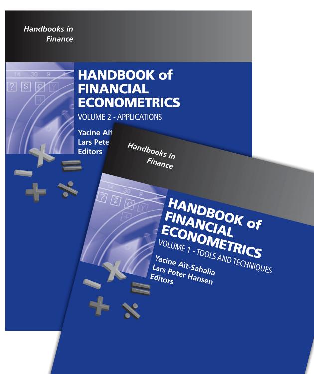 Handbook of Financial Econometrics Set, handbook of econometrics 2
