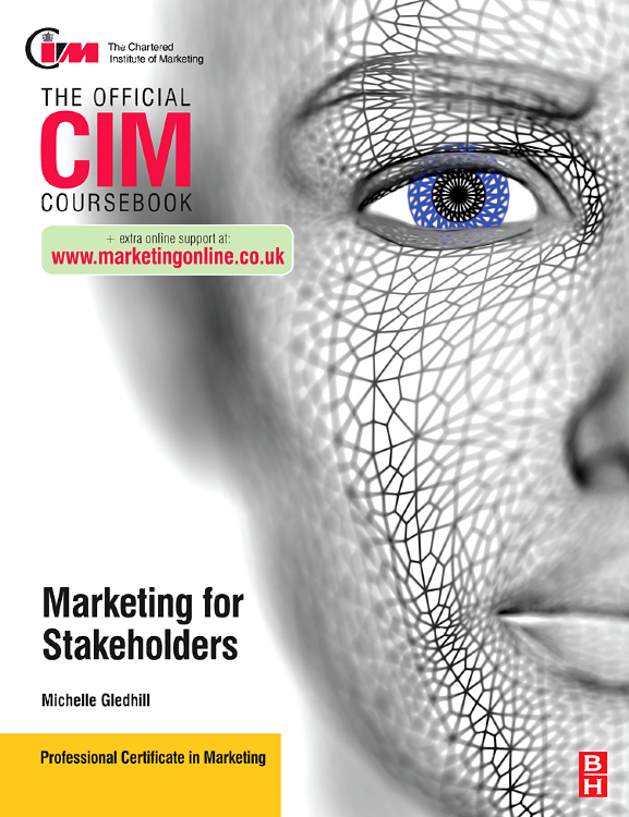 CIM Coursebook Stakeholder Marketing, gold first coursebook