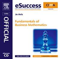 CIMA eSuccess CD Fundamentals of Business Maths, business fundamentals