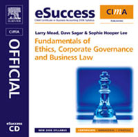 CIMA eSuccess CD Fundamentals of Ethics, Corporate Governance and Business Law, business fundamentals