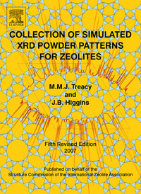 Collection of Simulated XRD Powder Patterns for Zeolites Fifth (5th) Revised Edition, vtb collection