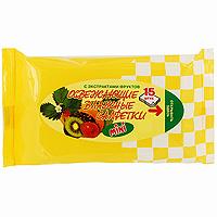 Влажные салфетки Максан, освежающие, с экстрактом фруктов, 15 шт влажные салфетки vestar зеленый чай освежающие 15 шт