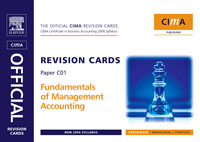 CIMA Revision Cards Fundamentals of Management Accounting, fundamentals of physics extended 9th edition international student version with wileyplus set