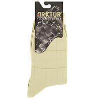 Носки мужские Arktur, цвет: бежевый. Л160. Размер 40/41Л160_32Мужские носки престижного класса. Изделия превосходного качества из мерсеризованного хлопка отличаются гладкой текстурой и шелковистостью, что создает приятное ощущение. Комфортная широкая резинка пресс-контроль не сдавливает и комфортно облегает ногу.