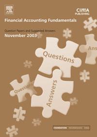 Financial Accounting Fundamentals November 2003 Exam Q&As,