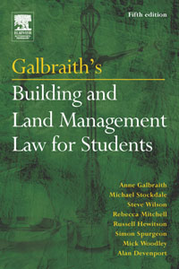 Galbraith's Building and Land Management Law for Students, european land law