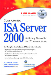Configuring ISA Server 2000, syngress configuring isa server 2000