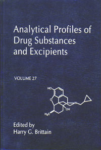 Analytical Profiles of Drug Substances and Excipients,27 harry g brittain profiles of drug substances excipients and related methodology 31