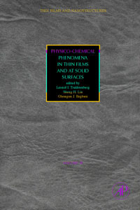 Physico-Chemical Phenomena in Thin Films and at Solid Surfaces,34 films ege