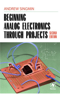 Beginning Analog Electronics through Projects, simple low cost electronics projects