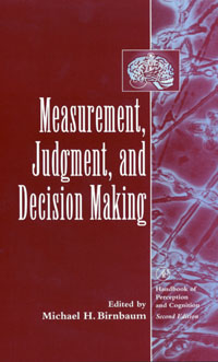 Measurement, Judgment, and Decision Making, philips gc2988 80