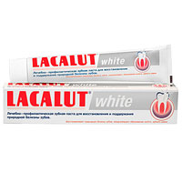 Lacalut Зубная паста White, 75 мл lacalut зубная паста flora 50 мл