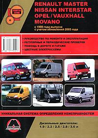 Renault Master / Nissan Interstar / Opel / Vauxhall Movano с 1998 г. выпуска с учетом обновлений 2003 года. Руководство по ремонту и эксплуатации