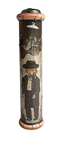 """Калейдоскоп """"Еврейский-шахматист"""". Репродукции, кракелюрный лак, металл, лак, зеркала, стекло, акрил, дерево, фактурный рисунок. Авторская работа, Красивое стекло"""