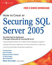 How to Cheat at Securing SQL Server 2005 pawan k bhardwaj how to cheat at windows system administration using command line scripts