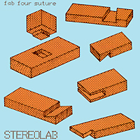 Stereolab Stereolab. Fab Four Suture medical examination special dental suture model gasen den006