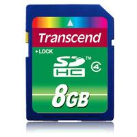 Transcend SDHC Class 4 8GBTS8GSDHC4Карта Transcend SDHC Class 4 может использоваться в качестве носителя информации в современных цифровых камерах, поддерживающих формат SDHC.Внимание: перед оформлением заказа, убедитесь в поддержке Вашим электронным устройством карт памяти данного объема.