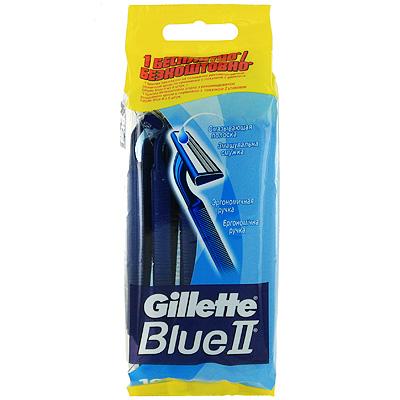 Бритвы одноразовые Gillette Blue II, 10 шт.  Gillette