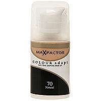 Max Factor Тональный крем Colour Adapt, тон 70 Natural (Натуральный), 34 мл80957267Тональная основа, которая поможет справиться с неровным тоном лица. Тональная основа Max Factor Colour Adapt адаптируется ктону кожи и создает естественное покрытие. Так в чемже секрет? «Умные частицы» тональной основы адаптируются ктону кожи, который отличается в разных зонах, обеспечивая невероятно легкое покрытие и не маскируя естественное свечение кожи. Тональная основа Max Factor Colour Adapt обеспечивает идеальный тон, кожа выглядит свежей и сияющей весь день. Инновационная технология для совершенства кожи. Помогает выровнять тон кожи, скрыть несовершенства и мелкие морщинки для создания идеального образа. Тональная основа Max Factor Colour Adapt имеет легкую формулу крем-пудры и подстраивается под любой тон кожи для удивительно естественного образа. Эмульсия на основе силикона и эластомера адаптируется ктону кожи и обеспечивает естественное умеренное покрытие для создания нежного и невесомого макияжа. Основа не содержит масел, подходит для чувствительной кожи, протестирована дерматологами, не закупоривает поры. Кремово-пудровая текстура для безупречного покрытия. Ультралегкая формула не сушит кожу. Содержит несколько цветовых пигментов, которые адаптируются ктону кожи. Не содержит масла, подходит для чувствительной кожи. Не закупоривает поры. Протестировано дерматологами.Сравни тон основы с тоном кожи на щеках и линии челюсти, чтобы подобрать идеальный оттенок. Если тон подобран правильно, то он буквально исчезнет на твоей коже. Чтобы достичь ровного покрытия, нанеси небольшое количество основы на тыльную сторону ладони и распредели по лицу кистью или кончиками пальцев. Нанеси небольшое количество на центральную часть лица и растушуй от центра кпериферии. Нанеси средство на веки и губы в качестве базы под тени и помаду.