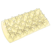 Форма для льда Звезда, цвет: желтый, 18 ячеек25.35.27Форма для льда Звезда выполнена из силикона. На одном листе расположены 18 формочек в видезвезд. Благодаря тому, что формочки изготовлены из силикона, готовый лед вынимать легко и просто. Чтобы достать льдинки, эту форму не нужно держать под теплой водой или использовать нож.Теперь на смену традиционным квадратным пришли новые оригинальные формы для приготовления фигурного льда, которыми можно не только охладить, но и украсить любой напиток. В формочки при заморозке воды можно помещать ягодки, такие льдинки не только оживят коктейль, но и добавят радостного настроения гостям на празднике! Характеристики:Материал: силикон. Размер общей формы: 11,5 см х 22,5 см х 2,5 см. Размер формочки: 3,5 см х 2,5 см. Цвет: желтый. Производитель: Италия.