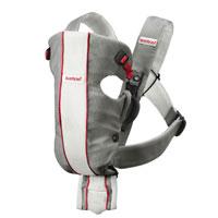 Рюкзак для переноски ребенка BabyBjorn Air, цвет: серый, белый babybjorn сиденье для унитаза babybjorn белый с красным
