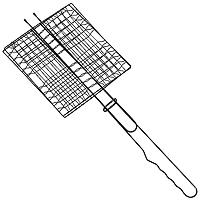 """Решетка """"Искра"""" предназначена для приготовления продуктов мясных блюд. Изготовлена из высококачественной стали с антипригарным покрытием. Идеально подходит для мангалов и барбекю.  Решетка имеет широкое фиксирующее кольцо на ручке, что обеспечивает надежную фиксацию.  Характеристики:  Материал:  сталь. Размер решетки:  23 см x 22 см. Высота решетки:  2,5 см. Длина ручки: 33 см. Артикул:  RDG-39В. Производитель:  Россия. Изготовитель: Китай."""