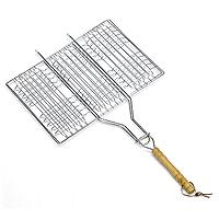 """Решетка """"Искра"""" предназначена для приготовления мяса, креветок, куриных крылышек и так далее. Изготовлена из высококачественной стали. Идеально подходит для мангалов и барбекю.   Решетка имеет удобную деревянную ручку.   Характеристики:  Материал:  сталь, дерево. Размер решетки:  34 см x 23 см. Высота решетки:  2 см. Длина ручки: 29 см. Артикул:  RDG-40. Производитель:  Россия. Изготовитель: Китай."""