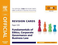 CIMA Revision Cards Fundamentals of Ethics, Corporate Governance & Business Law, business fundamentals