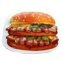 Магнит Гамбургер с салом91568Магнит Гамбургер с салом отлично подойдет для декорации вашего интерьера. Магнит выполнен в виде гамбургера с салом. Создайте в своем доме атмосферу тепла, веселья и радости, украшая его всей семьей. Характеристики:Материал: пластик. Размер магнита: 8,5 см х 8 см х 1 см. Артикул: 91568. Производитель: Россия.