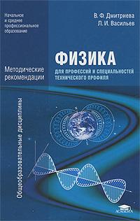 Физика для профессий и специальностей технического профиля. Методические рекомендации