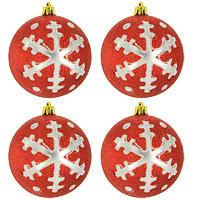 Набор новогодних шаров Снежинки, цвет: красный, 4 шт0159-1100Набор подвесных пластиковых шаров украсит новогоднюю елку и создаст теплую и уютную атмосферу праздника. В наборе 4 шара декорированных оригинальным блестящим рисунком. Шарики упакованы в пластиковуюкоробку, перевязанную белой лентой. Откройте для себя удивительный мир сказок и грез. Почувствуйте волшебные минуты ожидания праздника, создайте новогоднее настроение вашим дорогими близким.Характеристики:Материал:пластик. Диаметр шара: 8 см. Размер упаковки: 15 см х 7 см х 16 см. Комплектация:4 шт. Изготовитель: Китай. Артикул: 0159-1100.