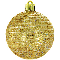 Набор новогодних шаров Спираль, цвет: золотистый, 6 шт набор однотонных пластиковых шаров 10 см 1глянцевый 1 матовый золотой
