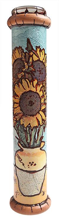 Калейдоскоп  Подсолнухи . Цветная печать, фактурный рисунок, металл, лак, зеркала, стекло, акрил, дерево. Ручная авторская работа - Развлекательные игрушки