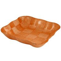 Ваза для фруктов Oriental way Шафран 27,5 х 27,5см RPP-1111BRPP-1111BОригинальная деревянная ваза Шафран прекрасно подойдет для вашей кухни. Предназначена для красивой сервировки фруктов. Ваза выполнена из высококачественной древесины березы. Изящный дизайн придется по вкусу и ценителям классики, и тем, кто предпочитает утонченность и изысканность.Характеристики:Материал: дерево. Размер: 27,5 см х 27,5 см х 6 см. Производитель: Тайвань. Артикул: RPP-1111B. Торговая марка Oriental way известна на рынке с 1996 года. Эта марка объединяет товары для кухни, изготовленные из дерева и других материалов. Все товары марки Oriental way являются безопасными для здоровья, экологичными, прочными и долговечными в использовании.
