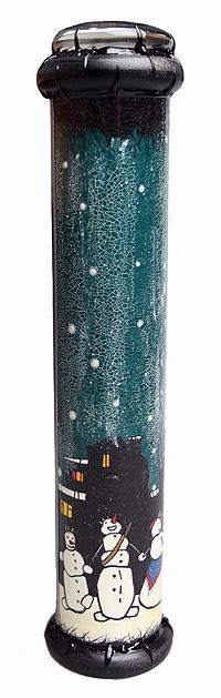 Калейдоскоп Хоровод снеговиков. Цветная печать, металл, кракелюровый лак, лак, зеркала, стекло, акрил, дерево. Ручная авторская работа калейдоскоп хохлома печать дерево цветное стекло зеркала ручная авторская работа