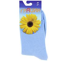 5666823 Носки женские Грация, цвет: голубой. Размер 35-37H 002Женские носки Грация изготовлены из экологически чистых материалов в соответствии с мировыми стандартами качества. Комфортная широкая резинка не сдавливает ногу.