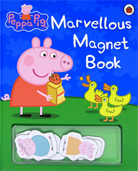Peppa Pig Marvellous Magnet Book. Книжка-игрушка peppa pig george and the noisy baby pb