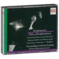Франц Конвичный,Gewandhausorchester Leipzig Franz Konwitschny. Schumann. The 4 Symphonies / Overtures (3 CD) комод berlin