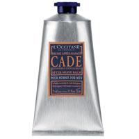 Бальзам после бритья LOccitane Cade, 75 мл057773/434437Бальзам после бритья LOccitane Cade после нанесения мгновенно устранит чувство дискомфорта, успокоит и смягчит кожу. Входящие в состав бальзама масла можжевельника, карите, березовый экстракт успокоят раздражение, снимут покраснение и обеспечат защиту коже. Характеристики:Объем: 75 мл. Артикул: 057773. Производитель: Франция.Loccitane (Л окситан) - натуральная косметика с юга Франции, основатель которой Оливье Боссан. Название Loccitane происходит от названия старинной провинции - Окситании. Это также подчеркивает идею кампании - сочетании традиций и компонентов из Средиземноморья в средствах по уходу за кожей и для дома. LOccitane использует для производства косметических средств натуральные продукты: лаванду, оливки, тростниковый сахар, мед, миндаль, экстракты винограда и белого чая, эфирные масла розы, апельсина, морская соль также идет в дело. Специалисты компании с особой тщательностью отбирают сырье. Учитывается множество факторов, от места и условий выращивания сырья до времени и технологии сборки. Товар сертифицирован.