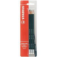 Набор чернографитных карандашй Stabilo Othello, 3 шт2988/HB-3BSTABILO Othello 2988 с ластиком особо прочный и экономичный карандаш самого высокого качества. Легко и аккуратно затачивается. Грифель из высококачественного мелкодисперсного графита благодаря особой технологии обработки даже при падении и ударе не ломается. Многослойное лаковое покрытие обеспечивает идеальный внешний вид карандаша на протяжении всего срока службы. Характеристики: Твердость: НВ. Длина карандаша:19 см. Размер упаковки:7 см х 24 см х 1,5 см. 3 карандаша.