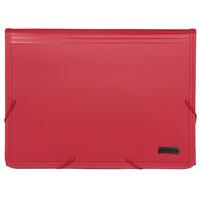 """Папка на резинке """"Comix"""", с цветными индексами, цвет: бордовый"""