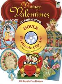 Vintage Valentines CD-ROM and Book (Electronic Clip Art) zhou jianzhong ред oriental patterns and palettes cd rom