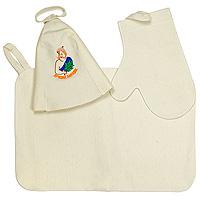 Набор для бани и сауны Лучший банщик: шапка, рукавица, коврик сауны бани и оборудование valentini набор для сауны fantasy